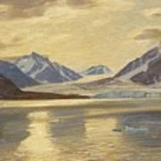 Macco, Georg 1863 Aachen - 1933   Glacier On Spitsbergen Art Print