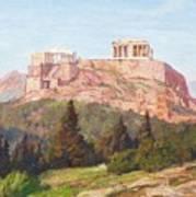 Macco, Georg 1863 Aachen - 1933   The Acropolis Of Athens. Art Print