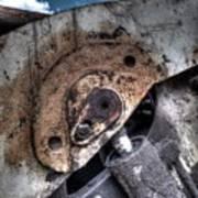 Machine Rust Hydraulic Ram Art Print