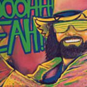 Macho Man Art Print by Derek Donnelly