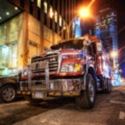 Mack Truck Nyc Art Print