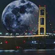 Mackinac Bridge Fantasy Art Print