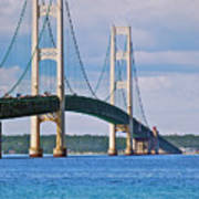 Mackinac Bridge Art Print by Michael Peychich