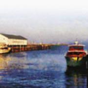 Mackinac Island Michigan Ferry Dock Art Print