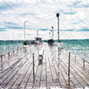 Mackinac Island Michigan Shuttle Pier Pa 02 Art Print