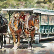 Mackinac Island Transportation - Surrey With The Fringe On Top Art Print