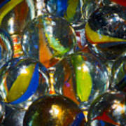 Macro Marbles Art Print