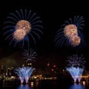 Macy's Fireworks IIi Art Print by David Hahn