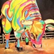 Mad Bull Art Print