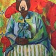 Madame Bear In A Chair Art Print