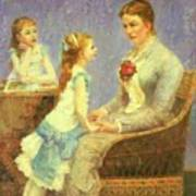 Madame Bouchet Et Ses Filles Art Print