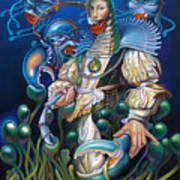 Madame Clawdia D'bouclier From Mask Of The Ancient Mariner Art Print