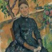 Madame Czanne Hortense Fiquet 18501922 In The Conservatory Art Print