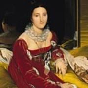 Madame De Senonnes Print by Ingres