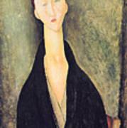 Madame Hanka Zborowska Art Print by Amedeo Modigliani