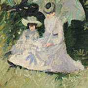 Madame Helleu And Her Daughter At The Chateau Of Boudran Art Print by Paul Cesar Helleu