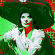 Madame Kate And The Big Hat Art Print