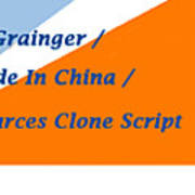 Made In China Clone - Made In China Script Art Print