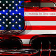 Made In The Usa . Chevy Corvette Art Print