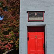 Madison Red Fire House Door Art Print