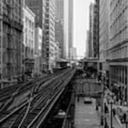 Madison St - Wabash Station - Chicago Loop Art Print
