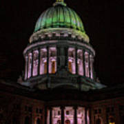 Madison Wi At Night Art Print