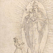 Madonna And Child Appearing To A Supplicant Art Print