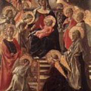 Madonna And Child Enthroned With Saints Fra Filippo Lippi Art Print