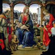 Madonna And Child Print by Filippino Lippi