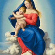 Madonna And Child In Glory Art Print