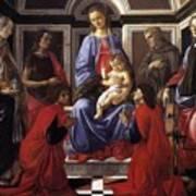 Madonna And Child With Six Saints Art Print