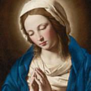 Madonna At Prayer Art Print