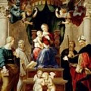 Madonna Del Baldacchino Raffaello Sanzio Da Urbino Raphael Raffaello Santi Art Print