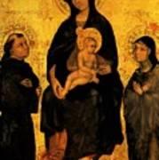 Madonna In Gloria Between Saint Francis And Santa Chiara Gentile Art Print