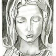 Madonna Of The Pieta Art Print by John Keaton