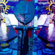 Madonna Trio Art Print