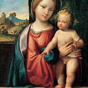 Madonna With The Child Art Print