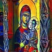 Madonna With The Child - My Www Vikinek-art.com Art Print