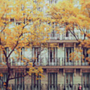 Madrid Facade In Late Autumn Art Print by Julia Davila-Lampe