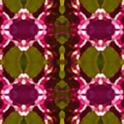 Magenta Crystals Pattern 2 Art Print