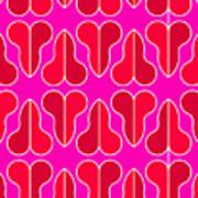 Magenta Half Heart Art Print