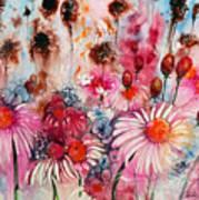 Magenta May Flowers Art Print