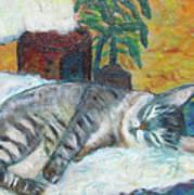 Maggie Sleeping Art Print