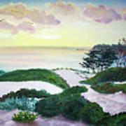 Magic Dawn At A Hidden Beach Art Print