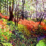 Magic Flower Forest Art Print