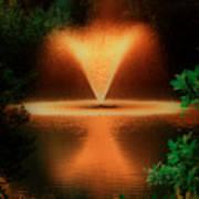 Magic Fountain  Hdr Art Print