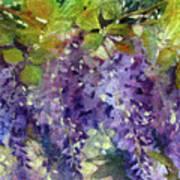 Magic In Purples And Greens Art Print