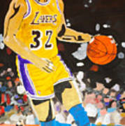 Magic Johnson Art Print by Estelle BRETON-MAYA