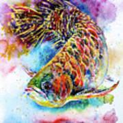 Magic Of Arowana Art Print