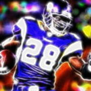 Magical Adrian Peterson   Art Print